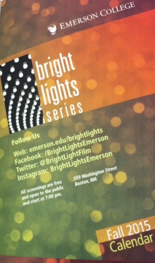 Emerson College Bright Lights Series Calendar - that's #whatsonpress