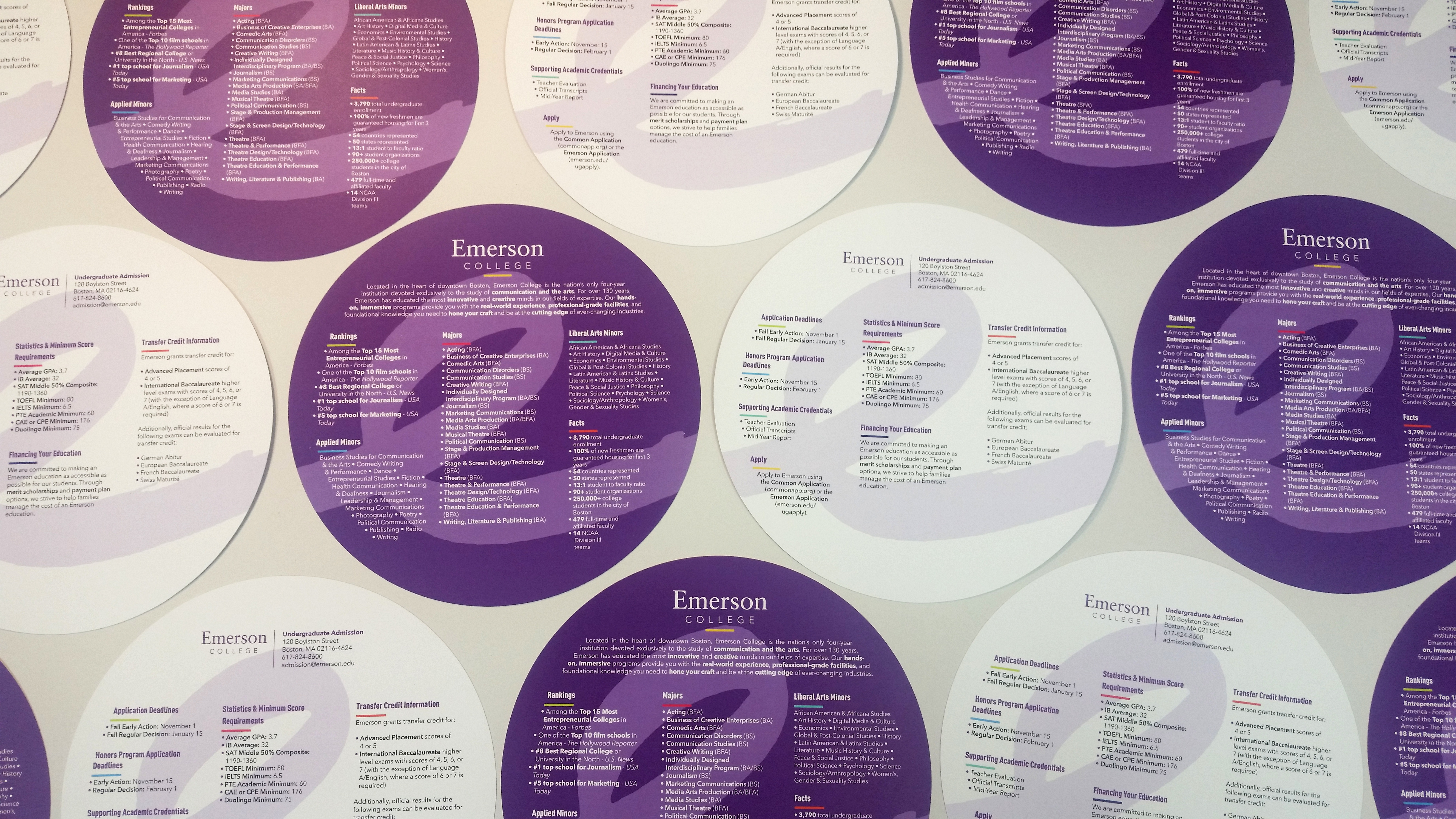 Die Cut Brochures for Emerson College, that's #WhatsOnPress!