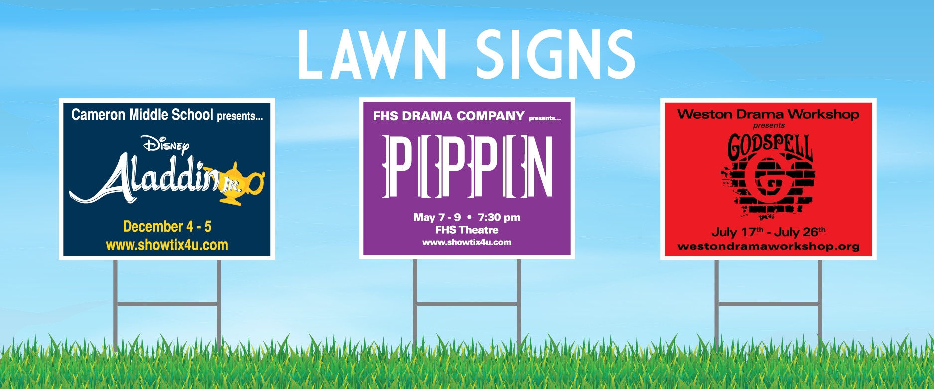 TPI Solutions Ink Theater Lawn Signs