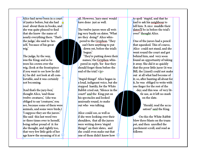 InDesign - text threads