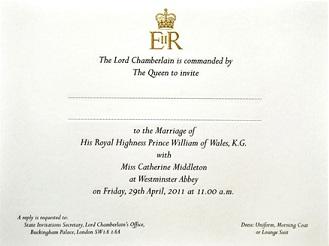 A royal wedding with custom printed wedding invitations of course custom printed wedding invitations stopboris Images