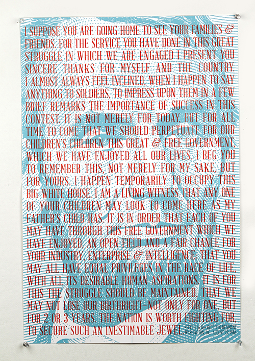 Abraham Lincoln, typeface, typography, poster