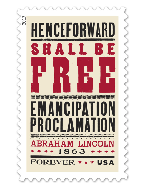 Abraham Lincoln, stamp, typography, design