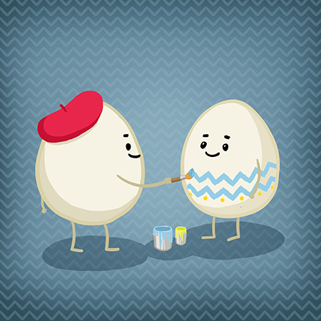 easter, illustration, design, egg
