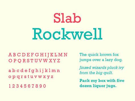 Slab Serif Typography, Rockwell