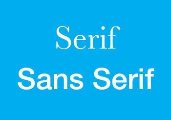 Serif vs. Sans Serif Typefaces ~ tpisolutionsink.com