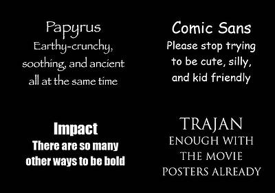 Get creative and avoid these overused fonts! ~ tpisolutionsink.com