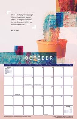 October 2019 Free Calendar Download - Printable