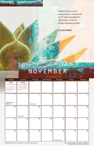 November 2019 Calendar with Quote from Claude Monet