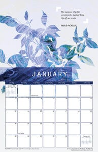 January 2019 Calendar with Pablo Picasso Quote