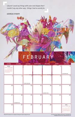 February 2019 Free Calendar Download - Printable