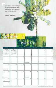 March 2019 Calendar with Vincent Van Gogh