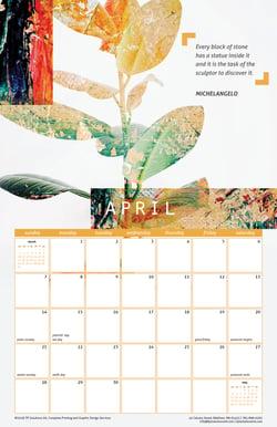 April 2019 Free Calendar Download - Printable