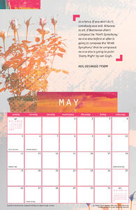 Free May 2019 Printable Wall Calendar with Quote from Neil Degrasse Tyson