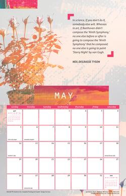 May 2019 Free Calendar Download - Printable