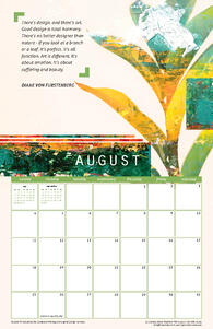 Free August 2019 Printable Wall Calendar with Quote from Diane Von Furstenberg