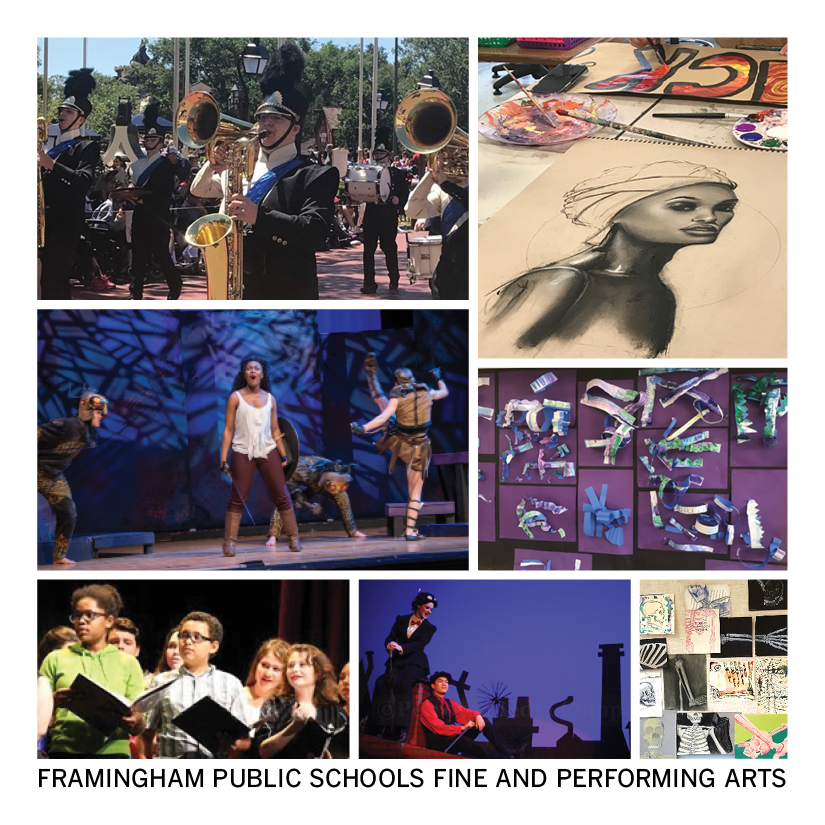 Collage of Framingham Public Schools fine and performing arts department