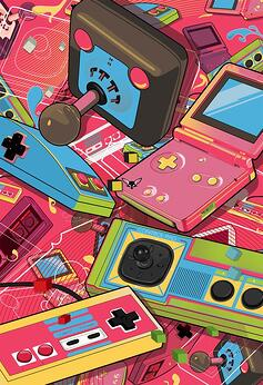 New Retro Design Video Games