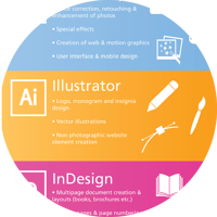 Adobe InDesign, Photoshop, and Illustrator Infographic