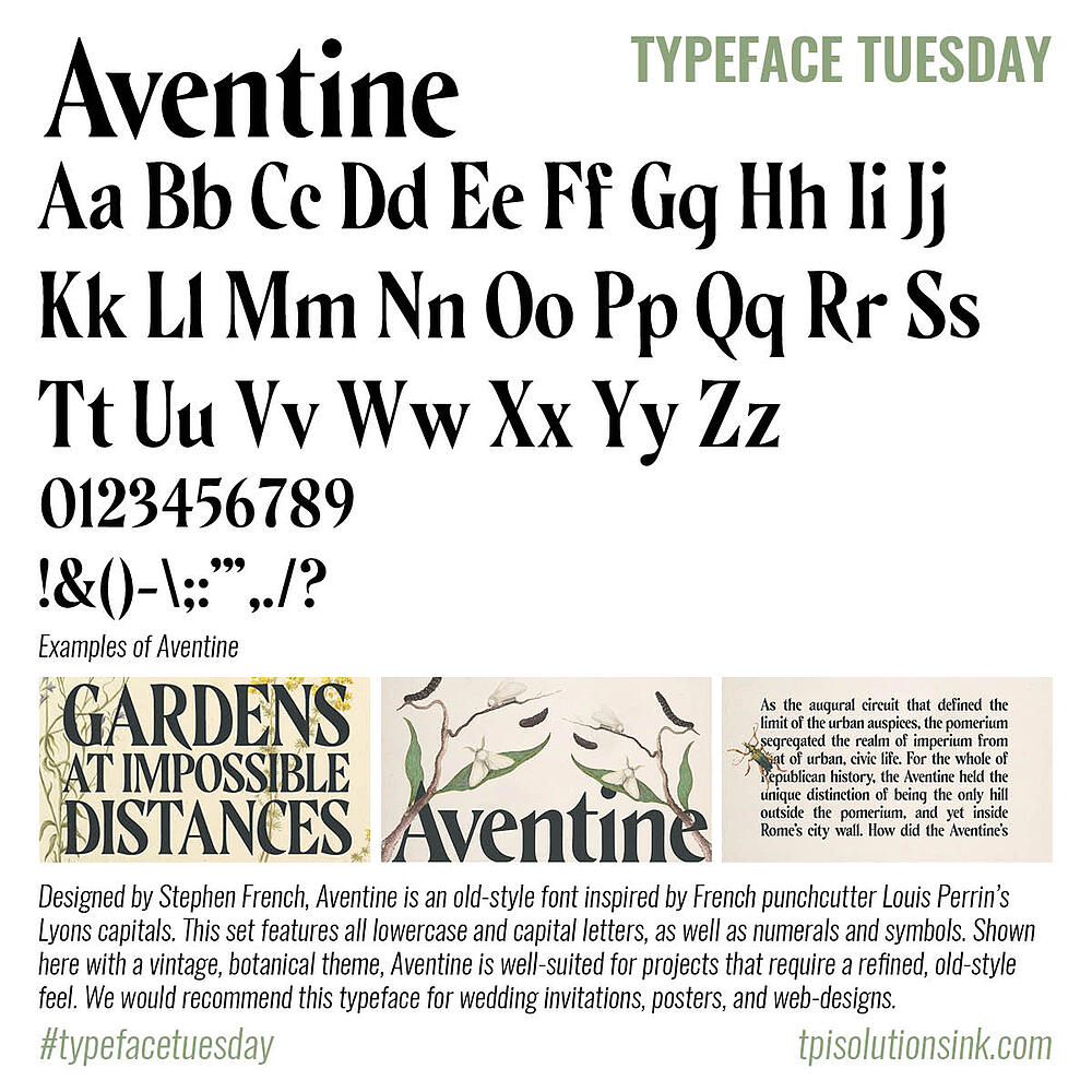 Typeface Tuesday – Aventine
