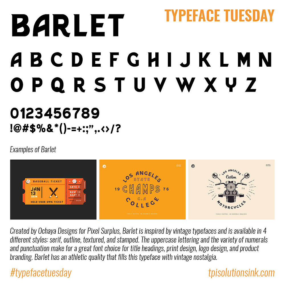 Typeface Tuesday – Barlet