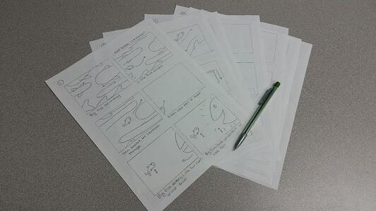 Storyboard for A Sea of Solutions stop motion animation TPI Solutions Ink