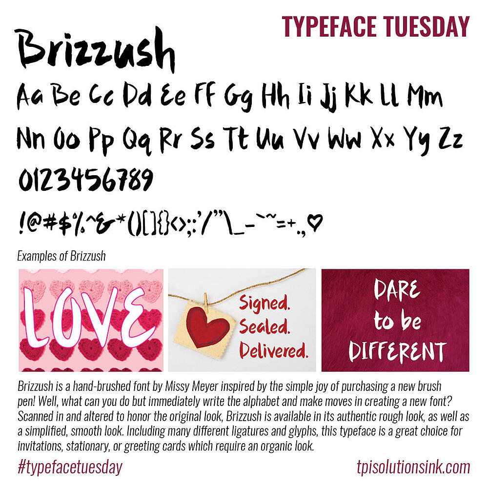 Typeface Tuesday – Brizzush