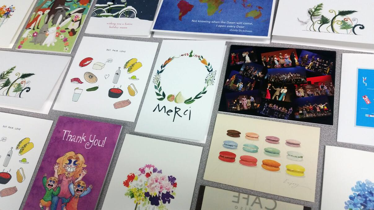 Custom greeting cards & invitations printed by TPI Solutions Ink