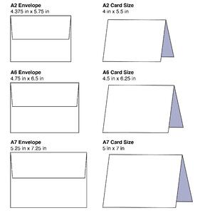 Envelope and card design template examples