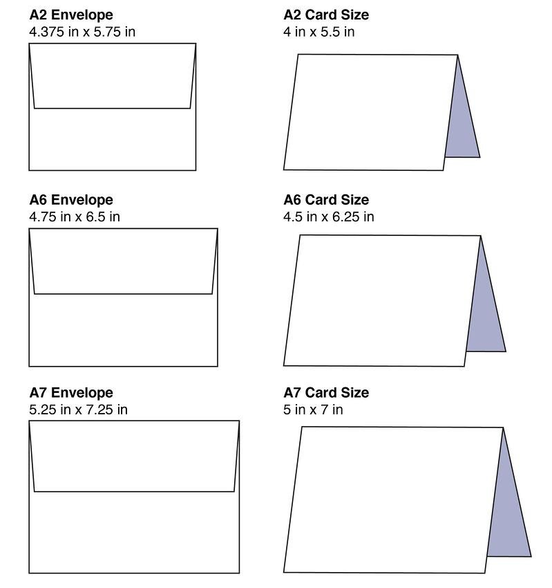 Card and Envelope Sizes TPI Solutions Ink