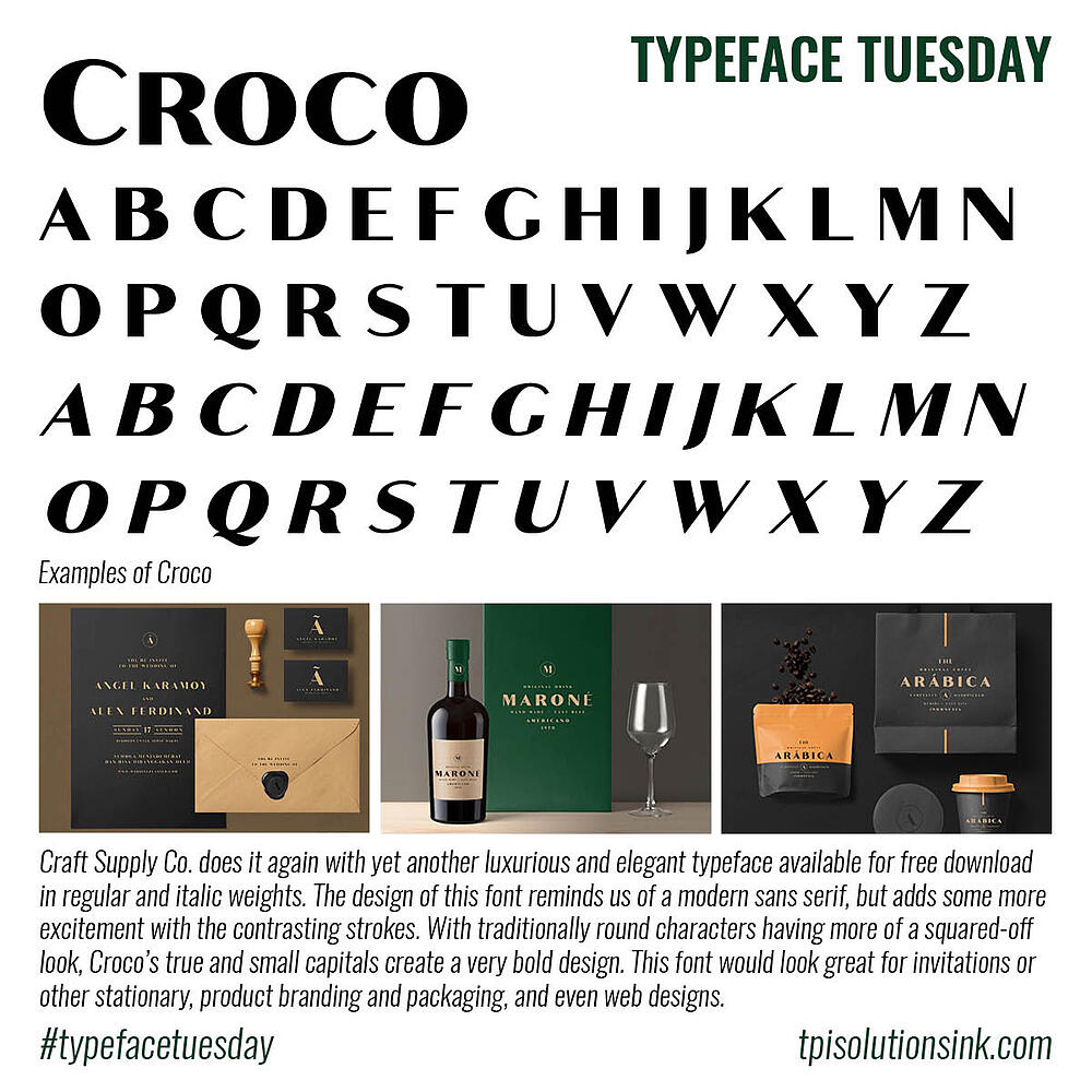 Typeface Tuesday – Croco