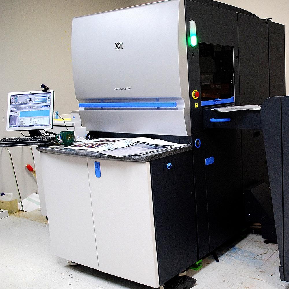 HP Indigo 5500 digital press at TPI Solutions Ink in Waltham