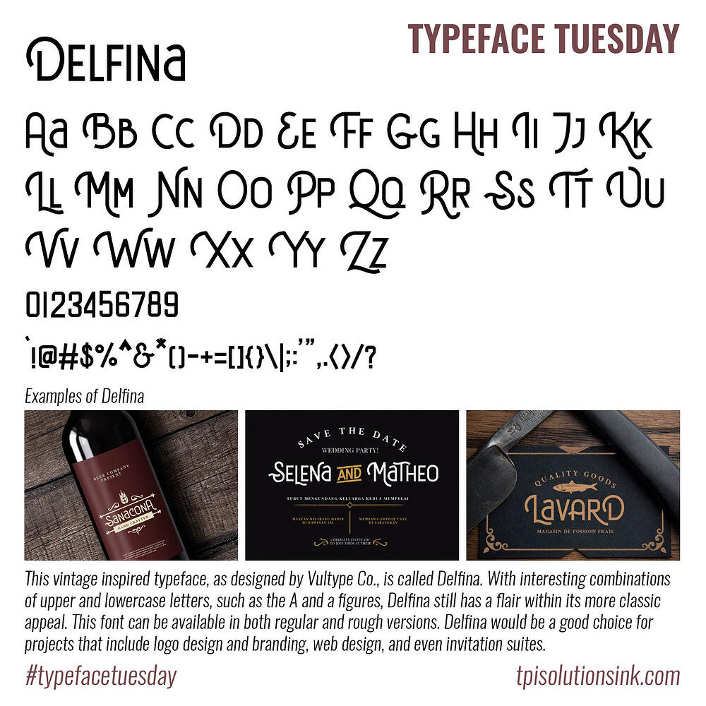 Typeface Tuesday – Delfina