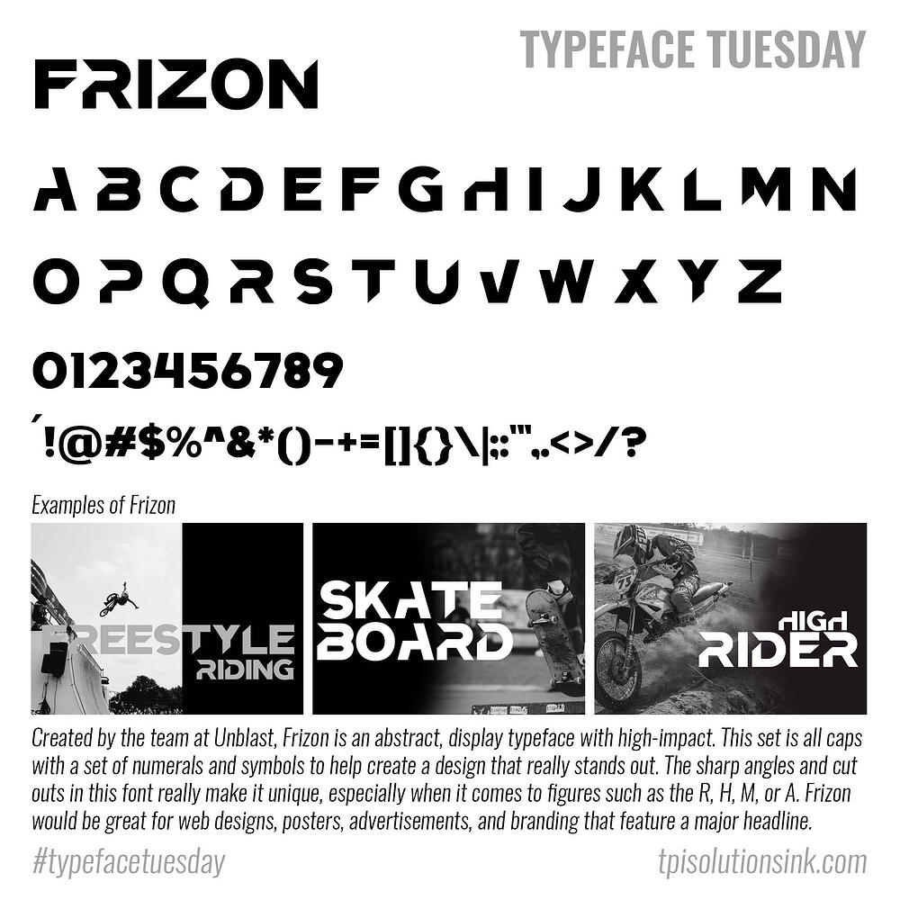 Typeface Tuesday – Frizon