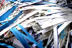 Paper recycling at Waltham printing company