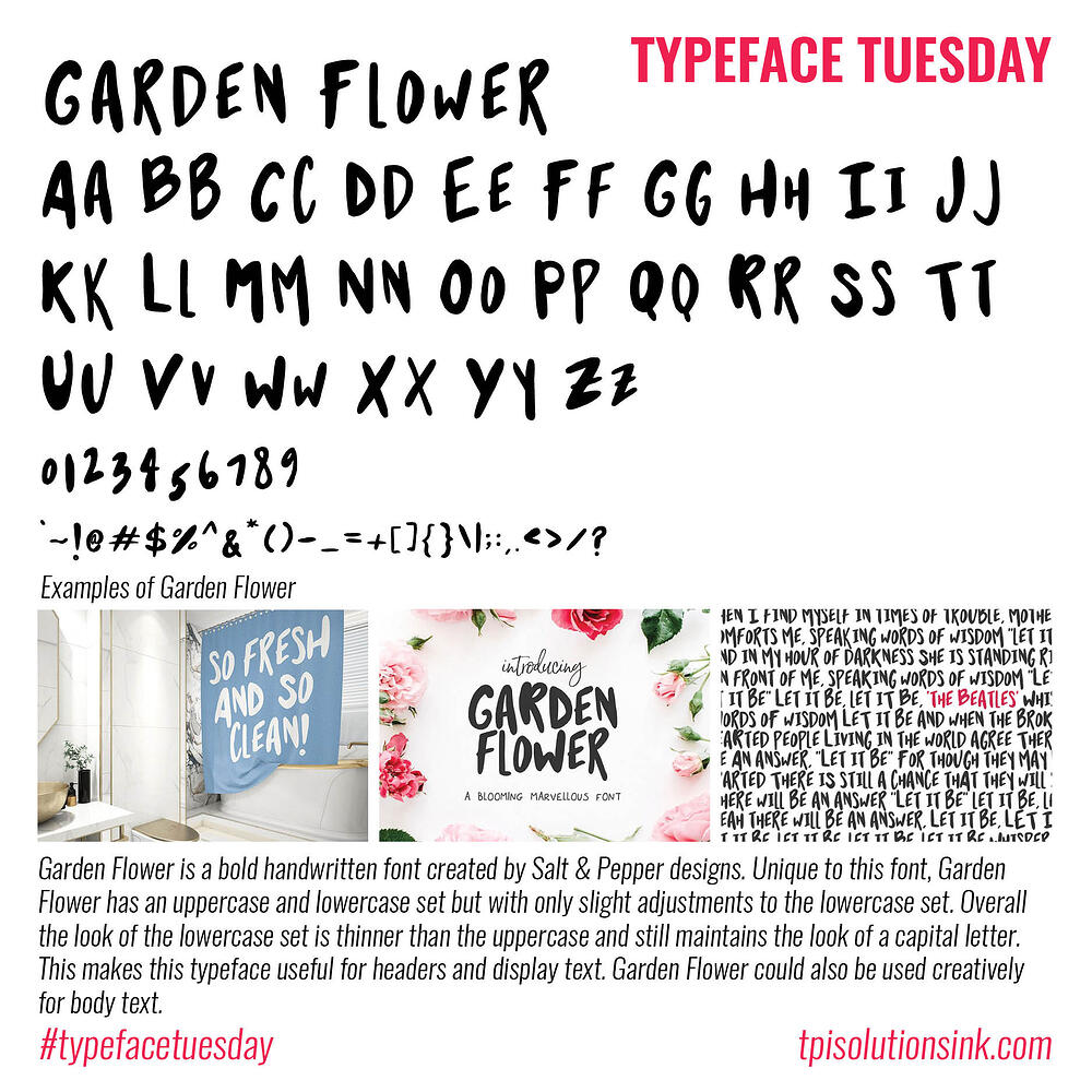Typeface Tuesday – Garden Flower