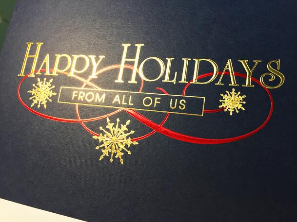 Foil Stamped Holiday Greeting Card from McLaughlin Insurance Agency