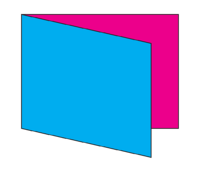Horizontal Folded Card Diagram and Template