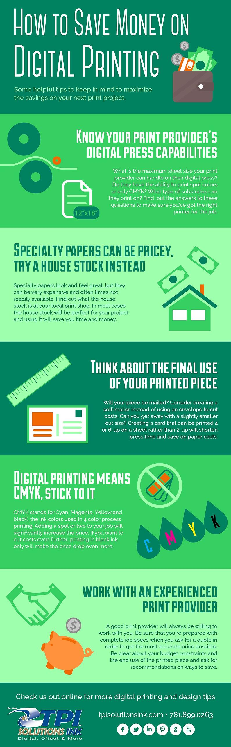 Infographic: How to Save Money on Digital Printing - Tips for Graphic Designers - tpisolutionsink.com