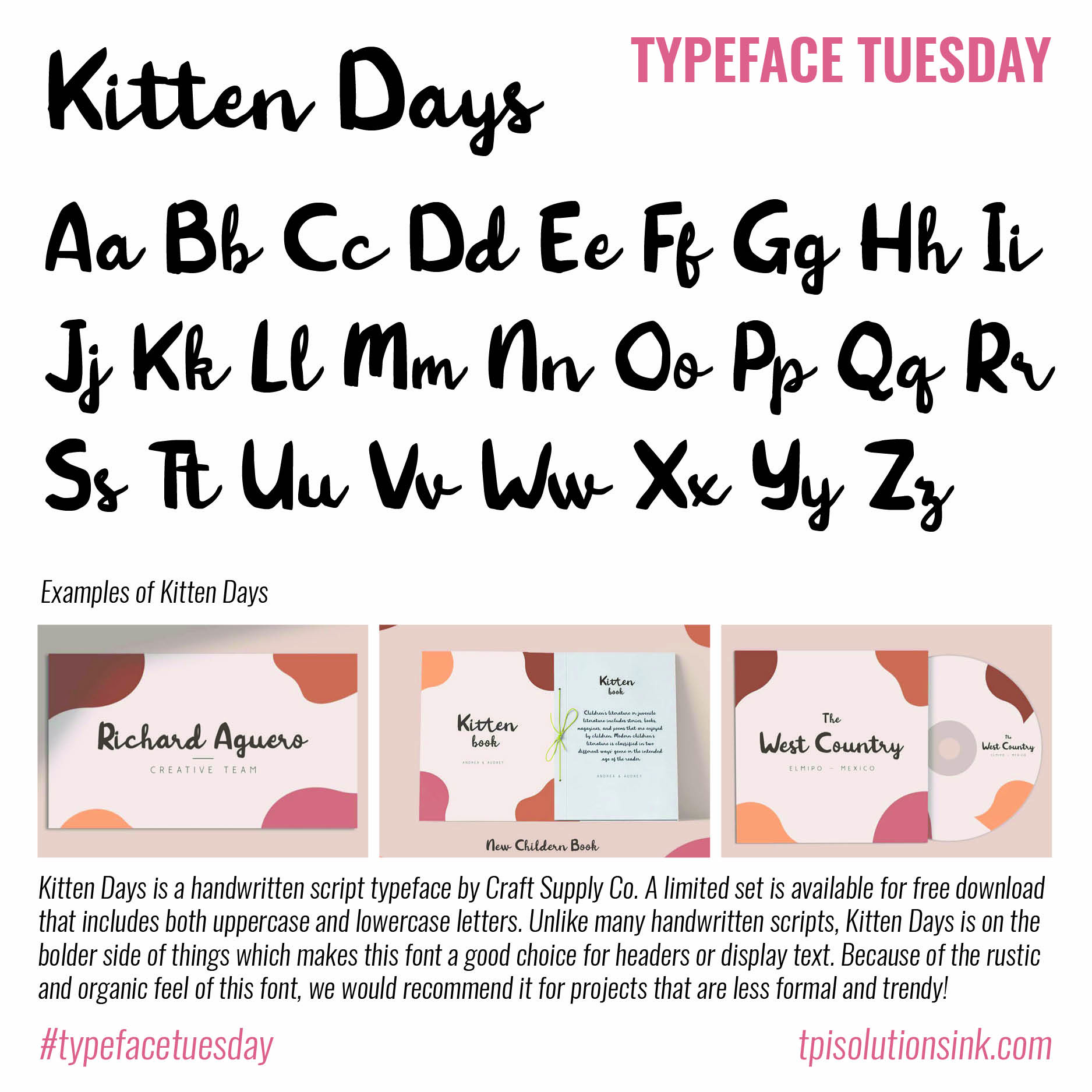 Typeface Tuesday – Kitten Days