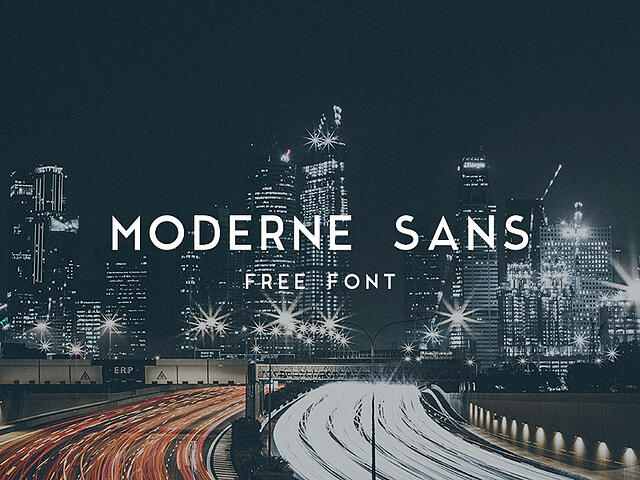 Moderne Sans Example