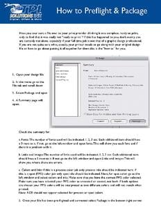 Guide on how to preflight and package pdf documents