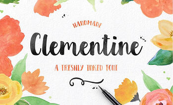 Clementine – A Typeface for Spring