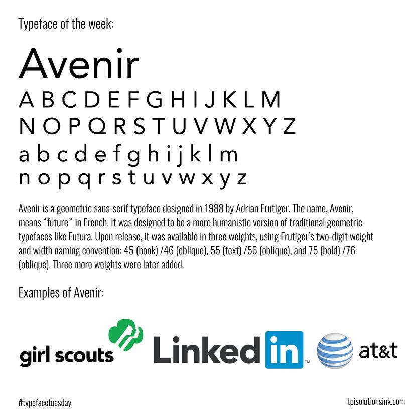 Typeface Tuesday Recap – April 2016