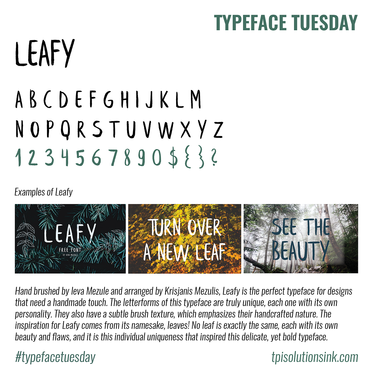 Typeface Tuesday – Leafy