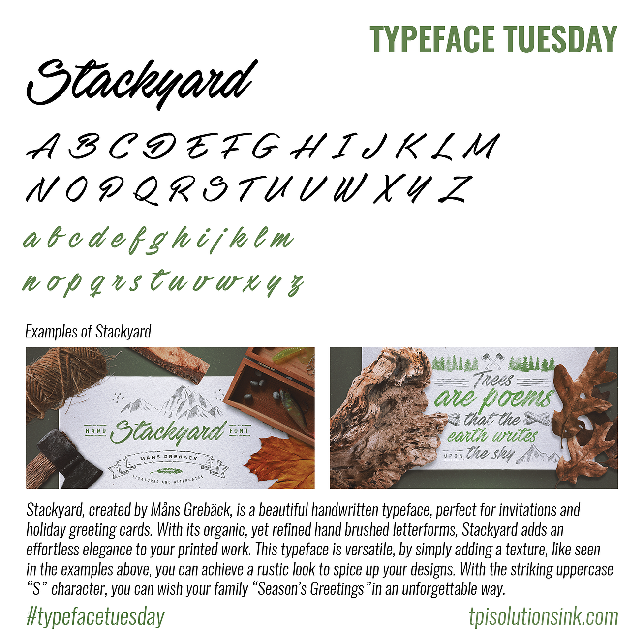 Typeface Tuesday – Stackyard