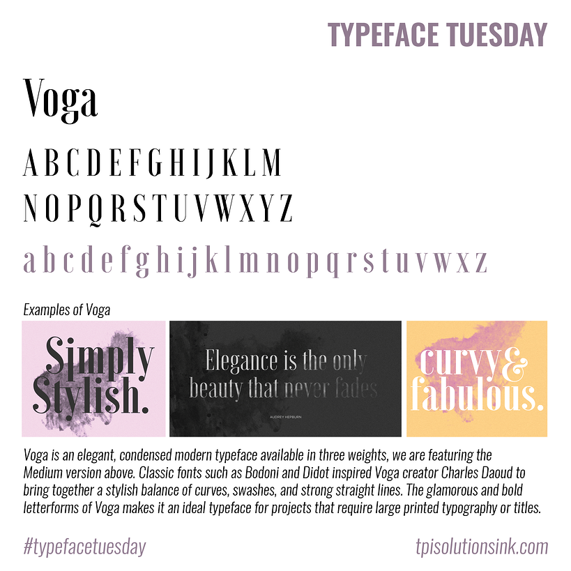Typeface Tuesday – Voga