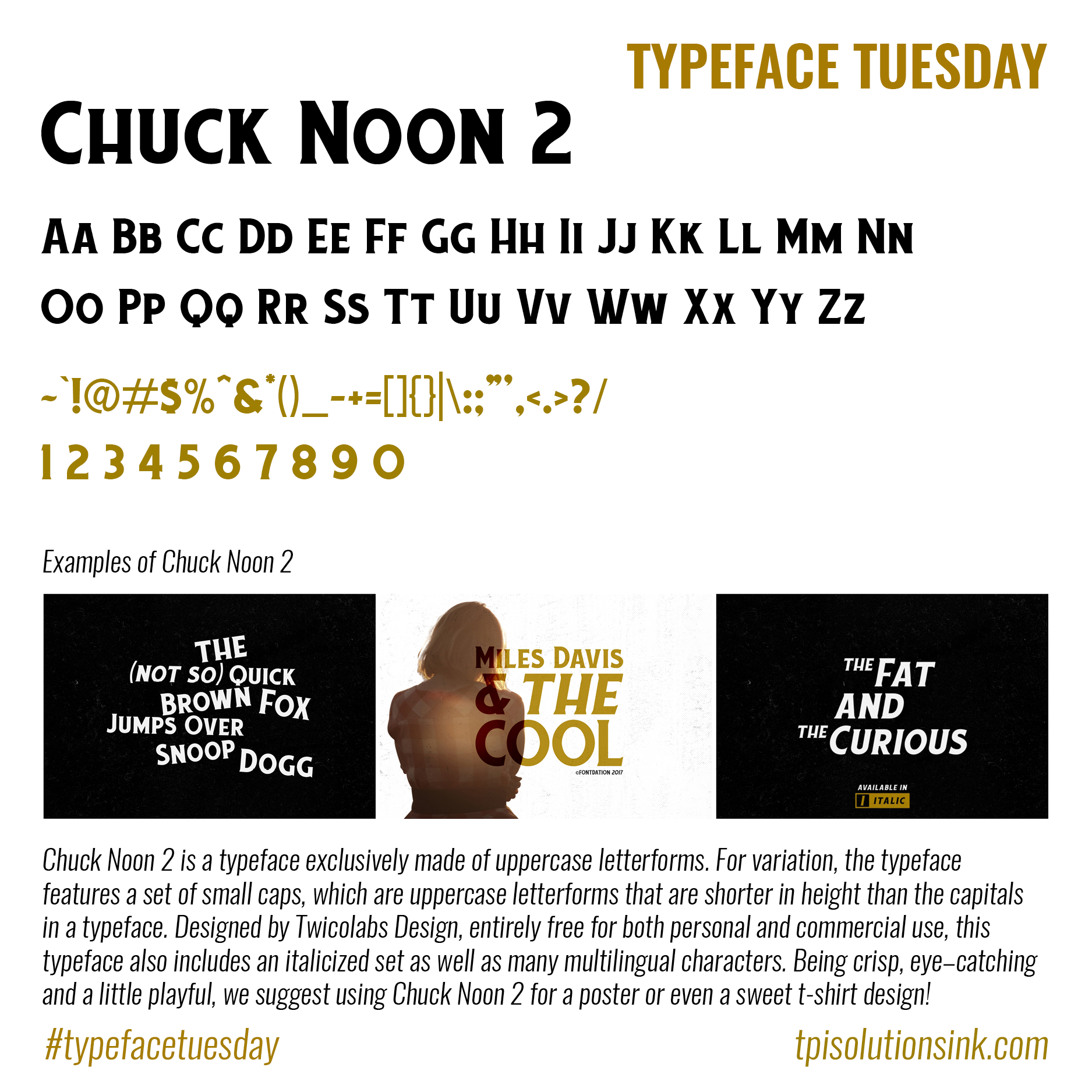 Typeface Tuesday – Chuck Noon 2
