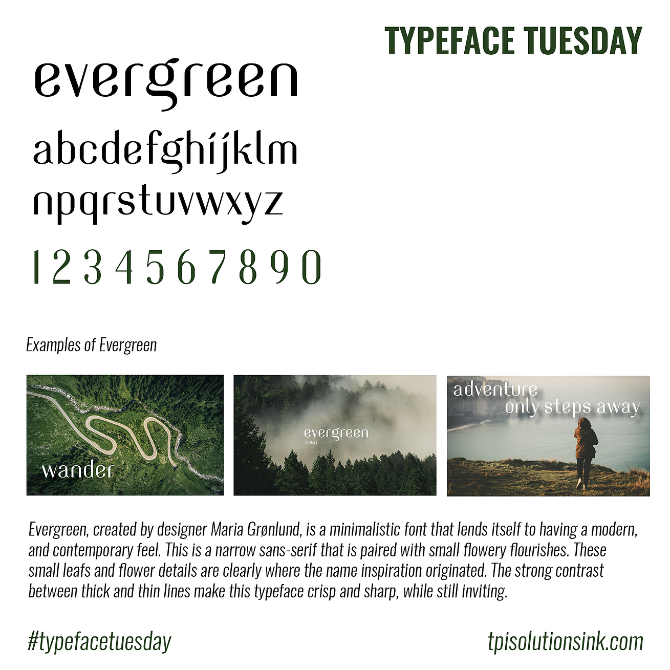 Typeface Tuesday – Evergreen