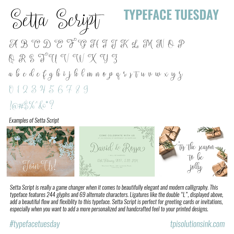 Typeface Tuesday – Setta Script